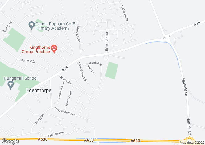 Map for Gurth Avenue, Edenthorpe, Doncaster DN3