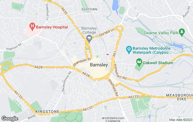 Map for 2 Let 2 U LTD, Barnsley