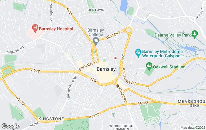 Map for Hunters, Barnsley
