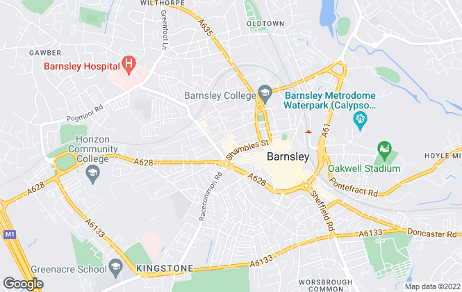 Map for Barnsley MBC, Barnsley