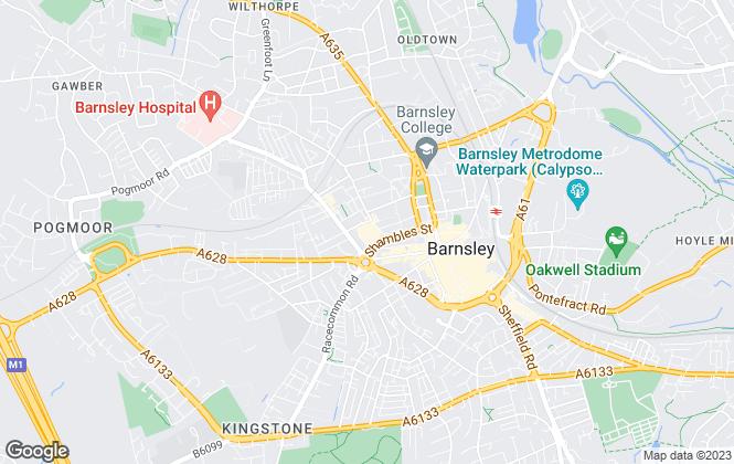 Map for Barnsley MBC, Barnsley