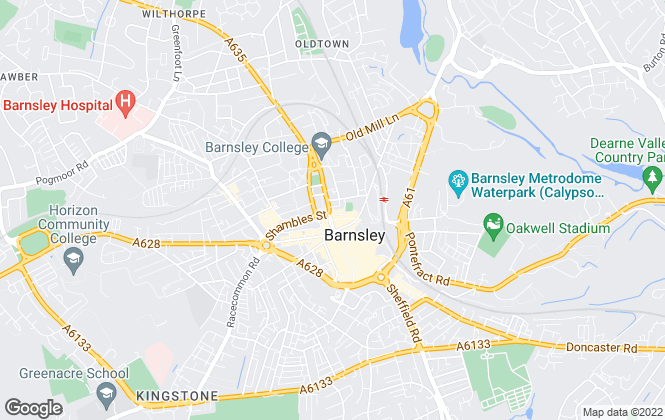 Map for Hunters, Barnsley