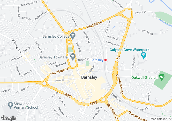 Map for Regent Street,