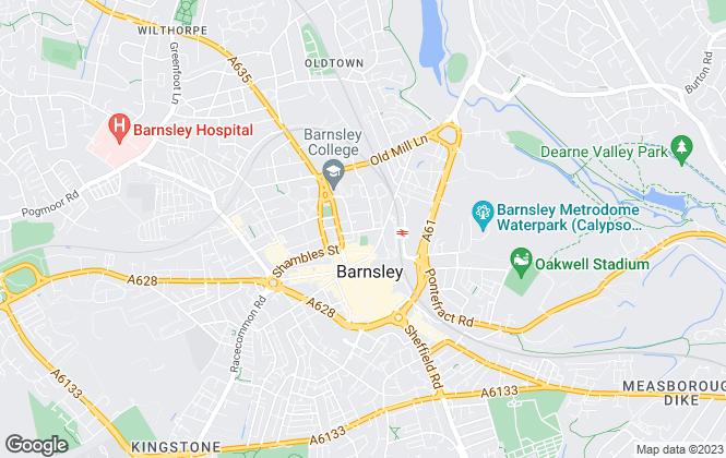 Map for Smiths Chartered Surveyors, Barnsley
