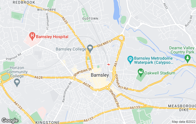 Map for Smiths Surveyors, Barnsley