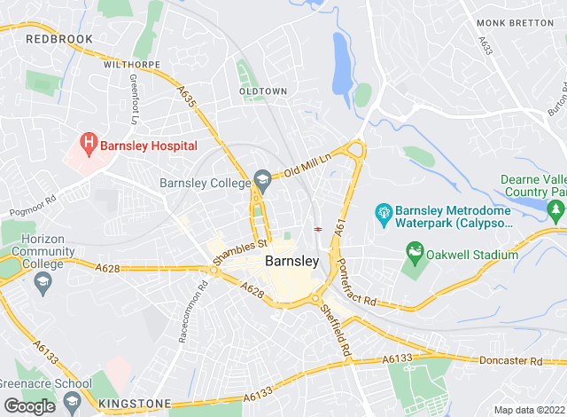 Map for Armitage Residential, Barnsley