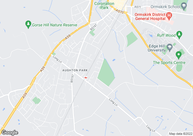 Map for Convent Close, Aughton, Lancashire