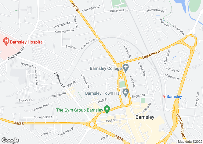 Map for Victoria Street, Barnsley