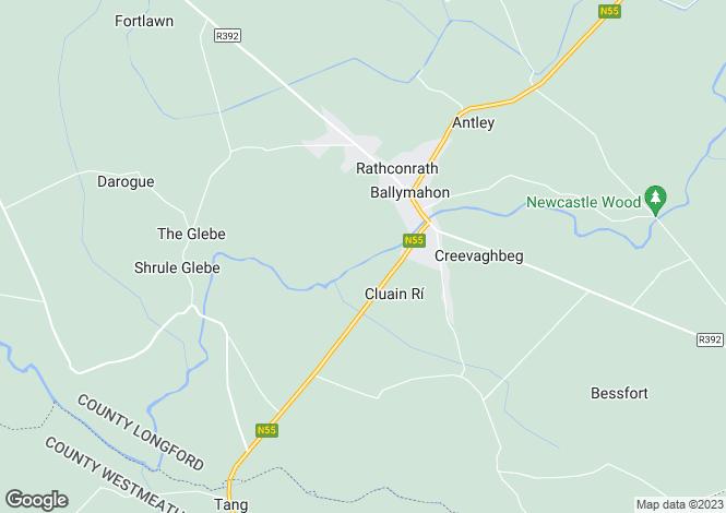 Map for 6 Thomond Hall, Ballymahon, Longford
