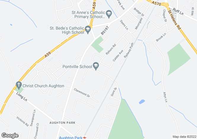Map for Black Moss Lane, Aughton, L39
