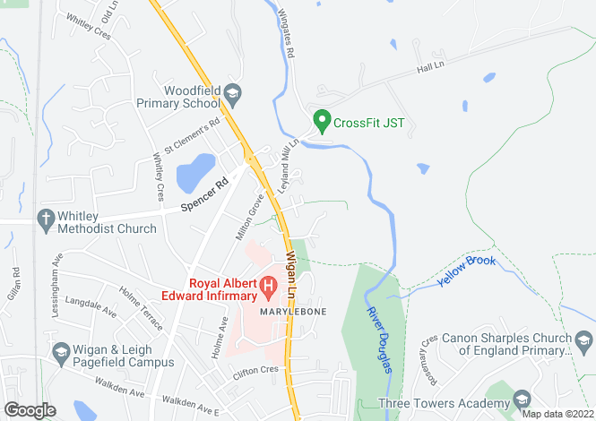 Map for Marylebone Place, Swinley, Wigan, WN1 2NS