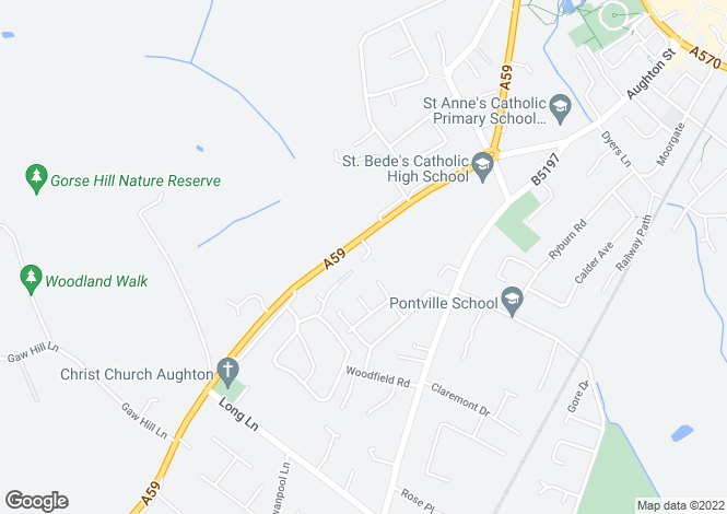 Map for Priory Grove, Ormskirk, Lancashire, L39 4XJ