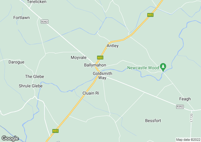 Map for Ballymahon, Longford
