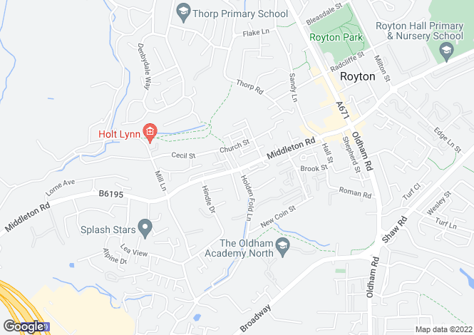 Map for 149 Middleton Road, Royton, Oldham