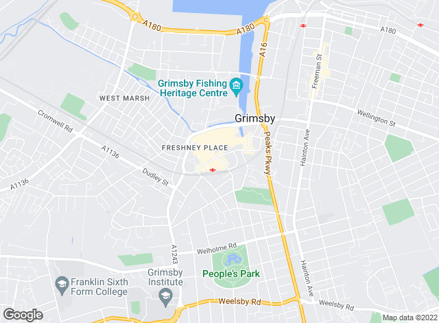 Map for Turner Evans Stevens, Grimsby