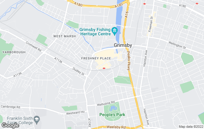 Map for Reeds Rains , Grimsby