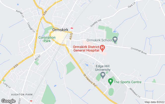 Map for CDK Lettings, Ormskirk