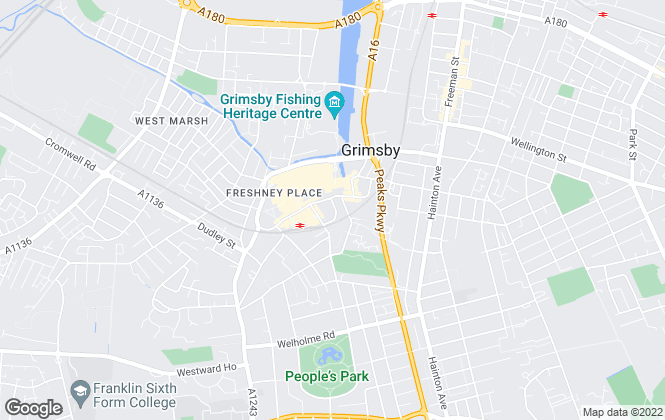 Map for Martin Maslin, Grimsby