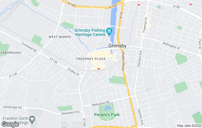 Map for Hunters, Grimsby