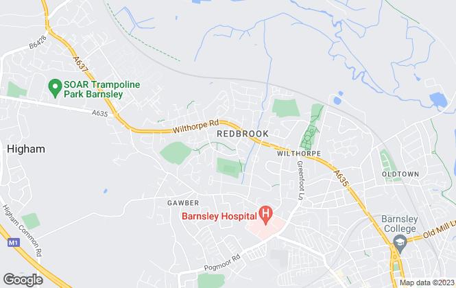 Map for NestledIn, Barnsley