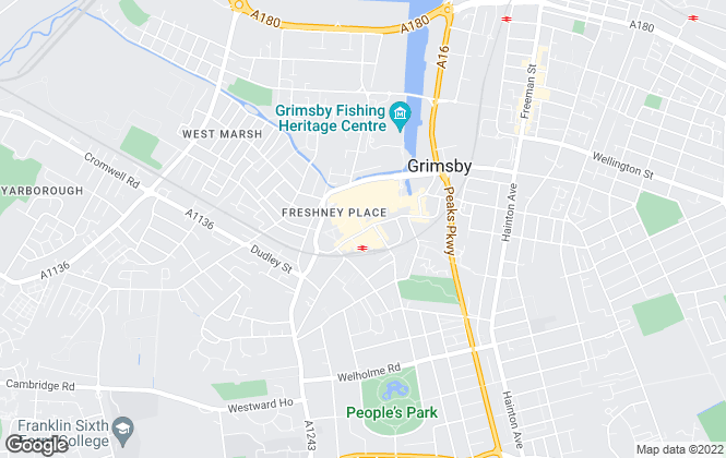 Map for Easy Property, Grimsby