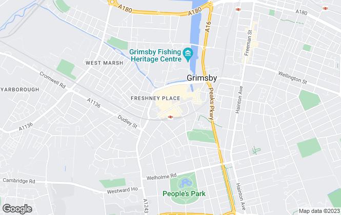 Map for Jackson Green & Preston, Grimsby