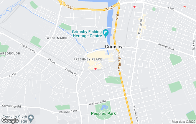 Map for Pygott & Crone, Grimsby