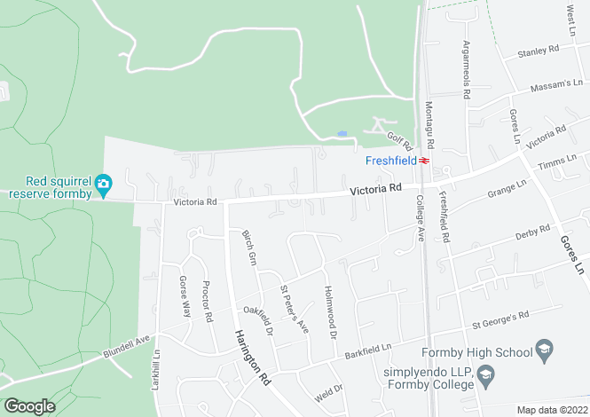 Map for Victoria Road, Freshfield,
