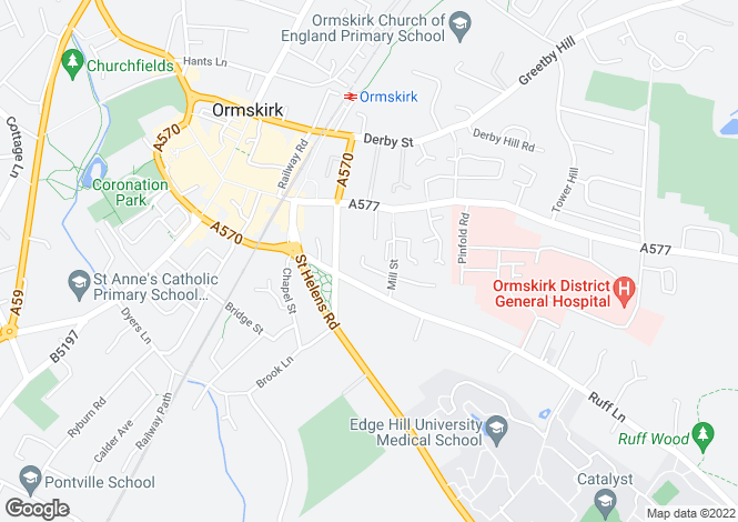 Map for Grammar School Court, Ormskirk, L39