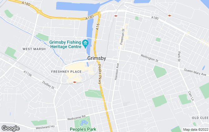 Map for John Crampton Properties Limited, Grimsby