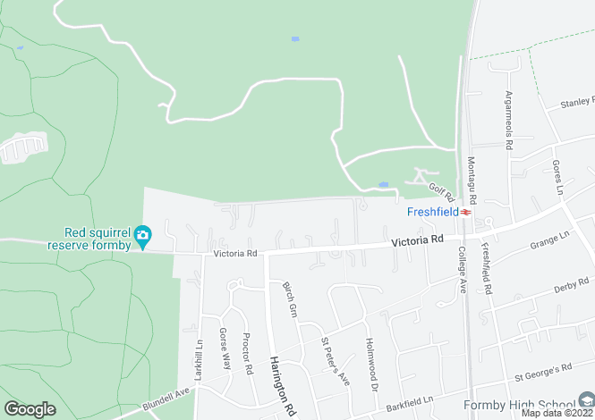 Map for Shireburn Road, Freshfield,
