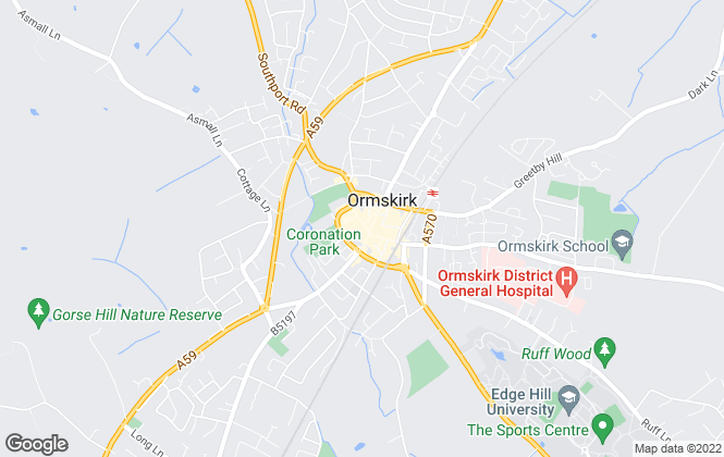 Map for NSW Properties Ltd, Ormskirk - Lettings