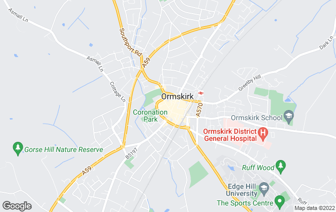 Map for Ian Anthony Estates, Ormskirk