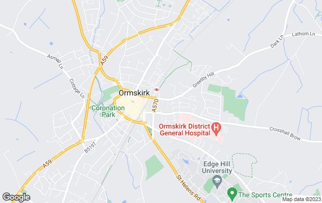 Map for West Lancashire Borough Council, Ormskirk
