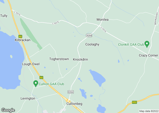 Map for Mullingar, Westmeath