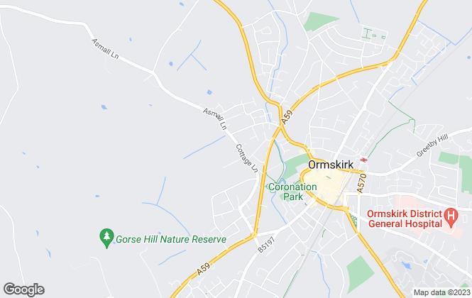 Map for Astral Estates Ltd, Ormskirk