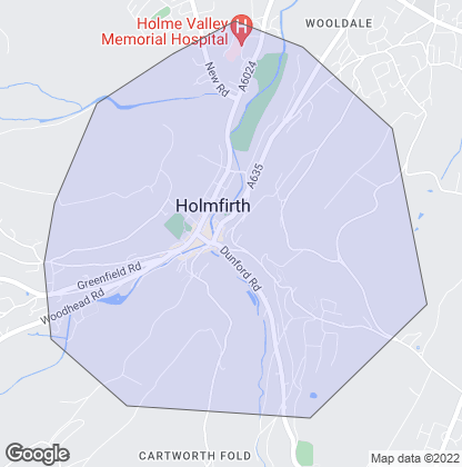 Map of property in Holmfirth
