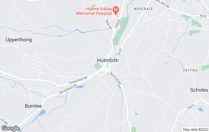 Map for Yorkshire's Finest, Holmfirth