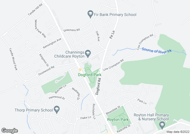 Map for 8, Hollybank, Royton