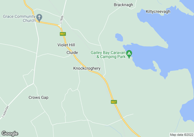 Map for Dun Ard, Knockcroghery, Co. Roscommon