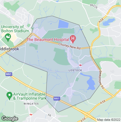 Map of property in Lostock