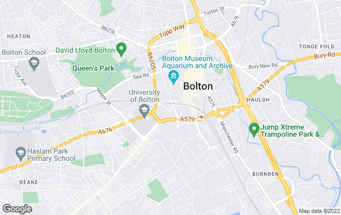 Map for Campus Cribs Ltd, Bolton