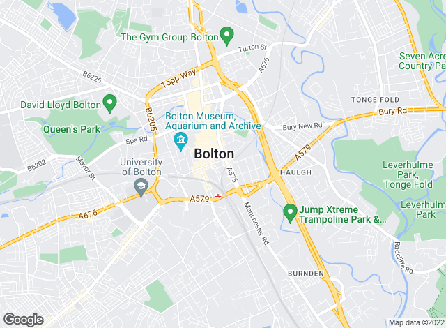 Map for Reeds Rains, Bolton