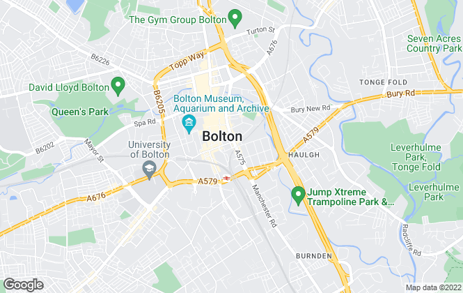 Map for Reeds Rains Lettings, Bolton