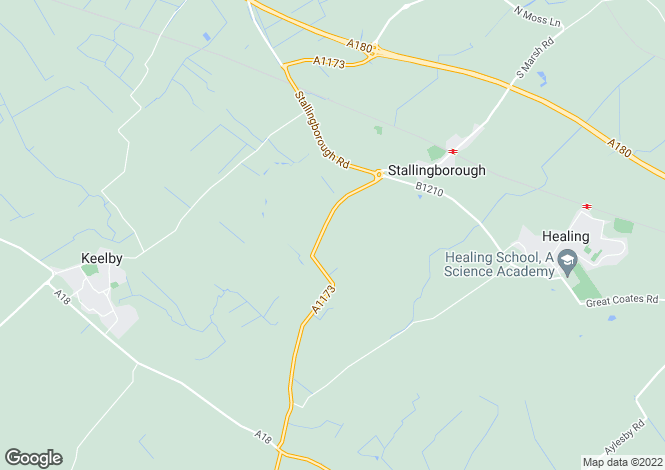 Map for Riby Road, Stallingborough