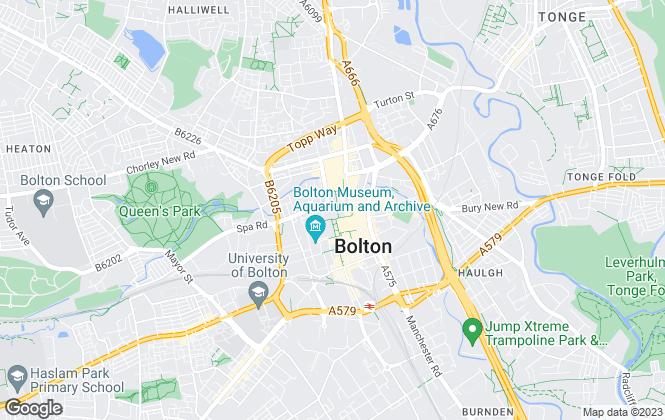 Map for Bridgfords Lettings, Bolton