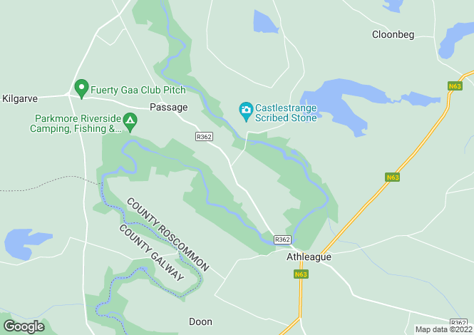 Map for IMMEDIATE VIEWINGS ADVISED Ballinacarrow House, Ballinacarrow, Athleague, Roscommon