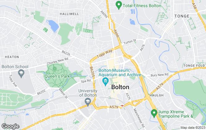 Map for Antony James Lettings Ltd , Bolton