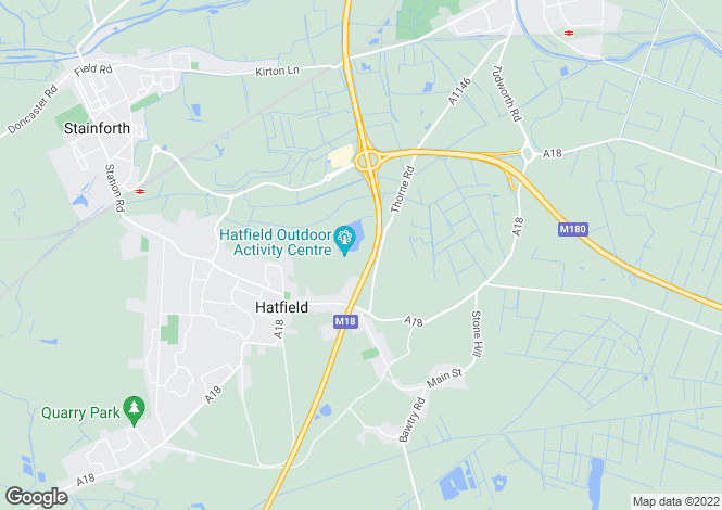 Map for OLD THORNE ROAD, HATFIELD, DONCASTER
