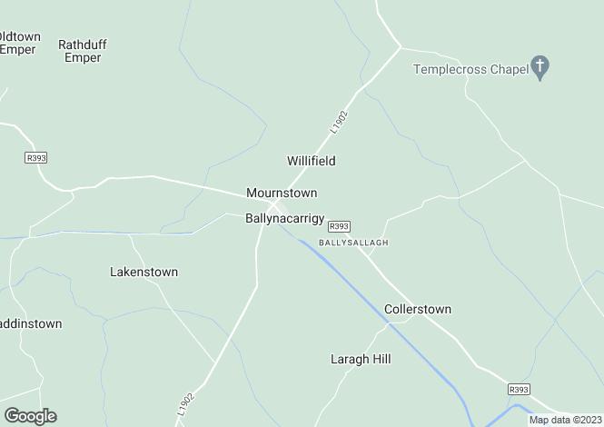 Map for Westmeath, Ballynacarrigy